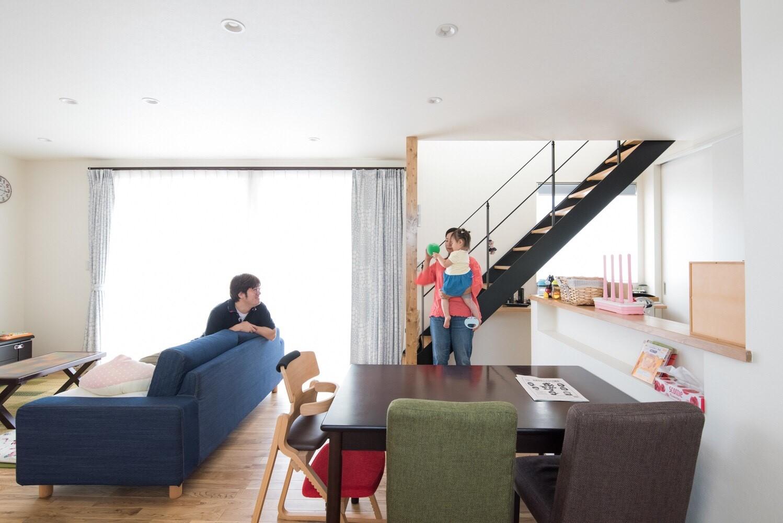 街のランドマークになるお家 ~敷地形状を生かしライフスタイルを具現化した家~の写真3
